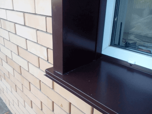 Отлив на окно